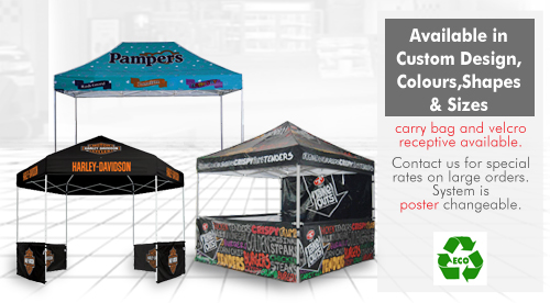 canopy branding, promo marquees, branded marquees, advertising on marquees, promotional marquees