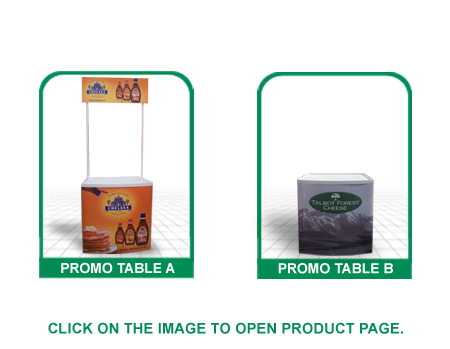 promo tables style a & b, promo counter